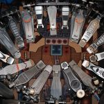 Brandon Ables - detail from One Man Trance. A ring of drum pedals.